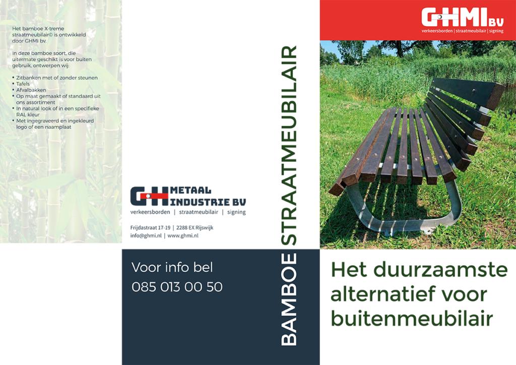 brochure straatmeubilair bamboe bank